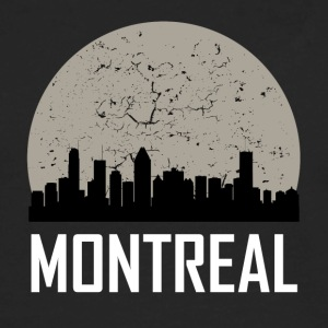 Montreal Full Moon Skyline - Men's Premium Long Sleeve T-Shirt