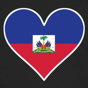 Haitian Flag Heart - Men's Premium Long Sleeve T-Shirt