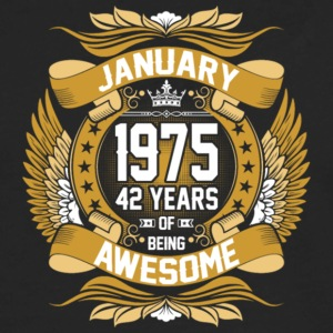 Anuary 1975 42 Years Of Being Awesome - Men's Premium Long Sleeve T-Shirt