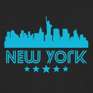 Retro New York City Skyline - Men's Premium Long Sleeve T-Shirt
