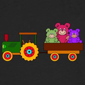 toy tractor with trailer and bears - Men's Premium Long Sleeve T-Shirt