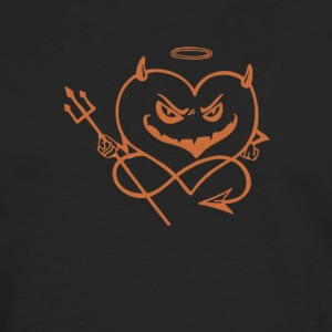 Valentine Heart Shaped Devil - Men's Premium Long Sleeve T-Shirt