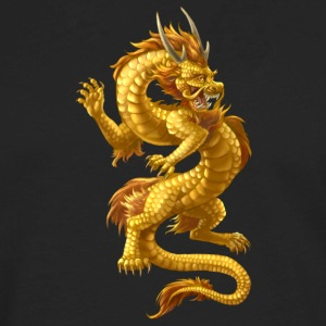 Gold Chinese Dragon - Men's Premium Long Sleeve T-Shirt