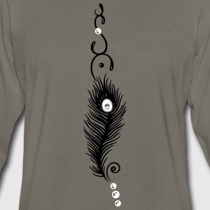 Feather, peacock feather, indian style, jewelry - Men's Premium Long Sleeve T-Shirt