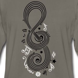 Big Clef with music notes - Men's Premium Long Sleeve T-Shirt