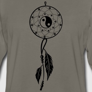 Dreamcatcher with feather and Yin and Yang - Men's Premium Long Sleeve T-Shirt