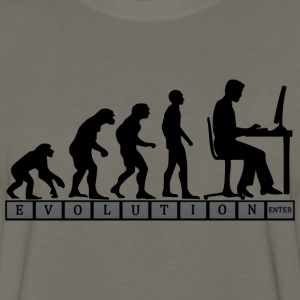 computer evolution T Shirt - Men's Premium Long Sleeve T-Shirt