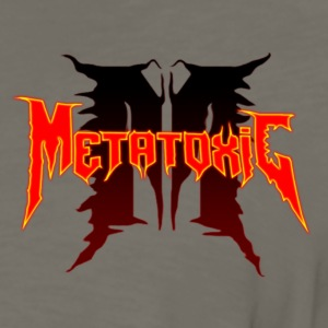 Metatoxic over Logo - Men's Premium Long Sleeve T-Shirt