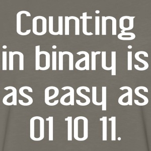 Counting In Binary T Shirt - Men's Premium Long Sleeve T-Shirt