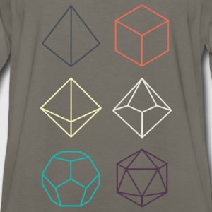 Minimal dnd (dungeons and dragons) dice - Men's Premium Long Sleeve T-Shirt