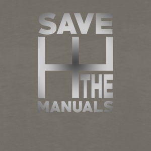 Save The Manuals Cool Car Tee Shirt - Men's Premium Long Sleeve T-Shirt