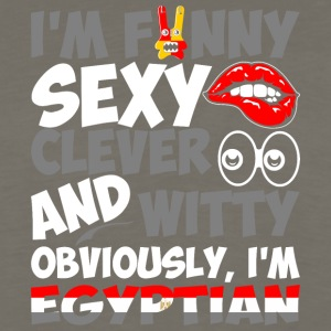 Im Funny Sexy Clever And Witty Im Egyptian - Men's Premium Long Sleeve T-Shirt