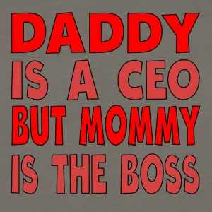 Daddy Is A CEO Mommy Is The Boss - Men's Premium Long Sleeve T-Shirt