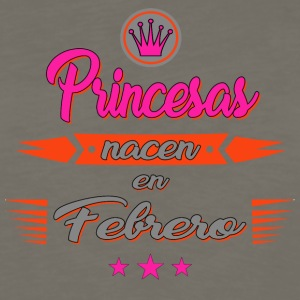 Princesas nacen en febrero - Men's Premium Long Sleeve T-Shirt