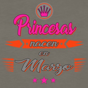 Princesas nacen en marzo - Men's Premium Long Sleeve T-Shirt