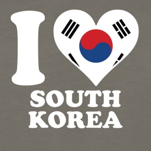 I Love South Korea Korean Flag Heart - Men's Premium Long Sleeve T-Shirt