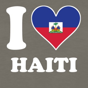 I Love Haiti Haitian Flag Heart - Men's Premium Long Sleeve T-Shirt