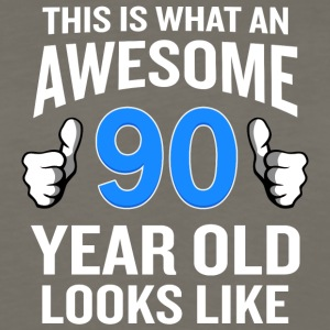 90 Year Old Birthday Funny Senior Man or Woman - Men's Premium Long Sleeve T-Shirt