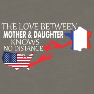 Mother & Daughter Knows No Distance US & France - Men's Premium Long Sleeve T-Shirt