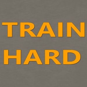 TRAIN HARD ORANGE - Men's Premium Long Sleeve T-Shirt