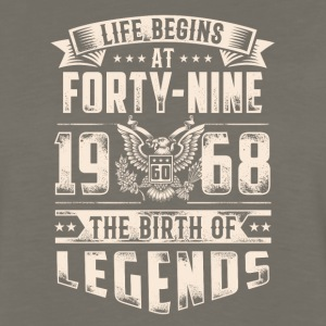 Life Begins At Forty Nine Tshirt - Men's Premium Long Sleeve T-Shirt