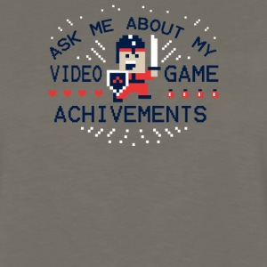 Ask Me About My Video Game Achievements - Men's Premium Long Sleeve T-Shirt