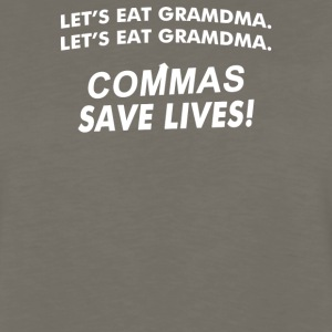 Commas Save Lives - Men's Premium Long Sleeve T-Shirt