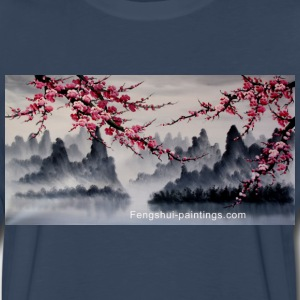 cherry-blossom-painting - Men's Premium Long Sleeve T-Shirt