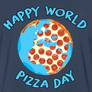 Happy World Pizza Day - Men's Premium Long Sleeve T-Shirt