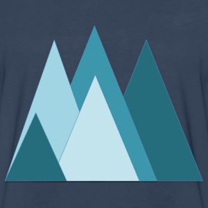 mountain triangles - Men's Premium Long Sleeve T-Shirt