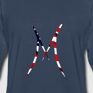 Official MAXIX MMXVII (M Logo) w American flag - Men's Premium Long Sleeve T-Shirt