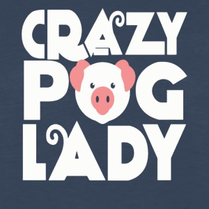 Crazy pig lady funny shirt - Men's Premium Long Sleeve T-Shirt