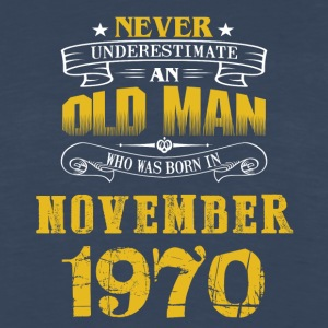 An Old Man Who Was Born In November 1970 - Men's Premium Long Sleeve T-Shirt