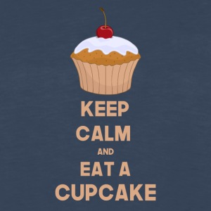 Funny Keep calm and eat a cupcake - Men's Premium Long Sleeve T-Shirt
