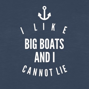 I like big boats and i cannot lie - Men's Premium Long Sleeve T-Shirt