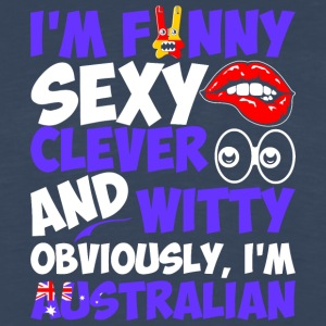 Im Funny Sexy Clever And Witty Im Australian - Men's Premium Long Sleeve T-Shirt