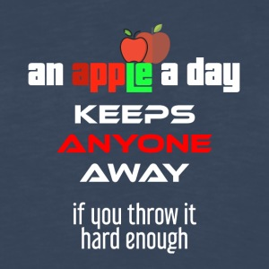 An apple a day keeps anyone away if you throw it - Men's Premium Long Sleeve T-Shirt
