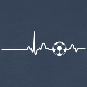 EKG HEARTBEAT SOCCER white - Men's Premium Long Sleeve T-Shirt
