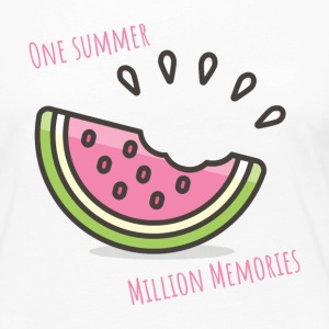 One Summer, Million Memories - Watermelon - Women's Premium Long Sleeve T-Shirt