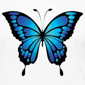 Bright blue butterfly - Women's Premium Long Sleeve T-Shirt