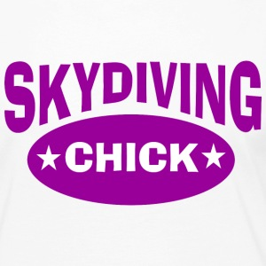 Skydiving chick - Women's Premium Long Sleeve T-Shirt