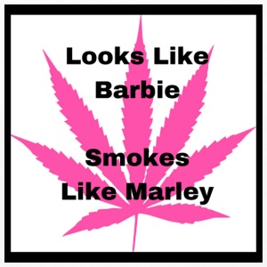 Looks Like BarbieSmokes Like Marley 1 - Women's Premium Long Sleeve T-Shirt