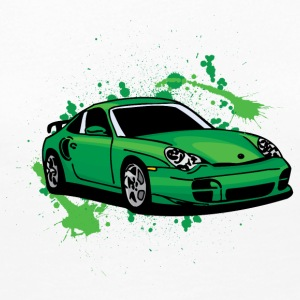 Green_porsche_911_sport_car - Women's Premium Long Sleeve T-Shirt