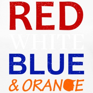 Red White Blue and Orange - Women's Premium Long Sleeve T-Shirt