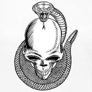 Skull_with_snake - Women's Premium Long Sleeve T-Shirt