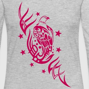 Eagle with tribal and stars. - Women's Premium Long Sleeve T-Shirt