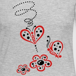 Flowers and butterflies, ladybug style. - Women's Premium Long Sleeve T-Shirt