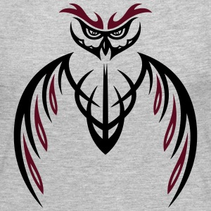 Large Owl Tribal & Tattoo Style. - Women's Premium Long Sleeve T-Shirt