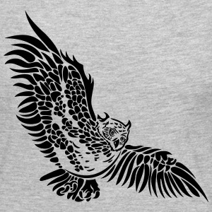 Flying owl with big wings. - Women's Premium Long Sleeve T-Shirt