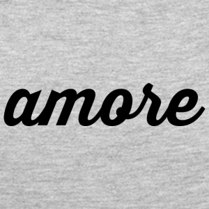 Amore - Cursive Design (Black Letters) - Women's Premium Long Sleeve T-Shirt